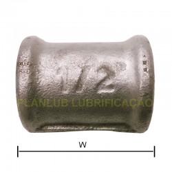 Luva de Emenda Tupy 1/2 Pol- Aço Galvanizado