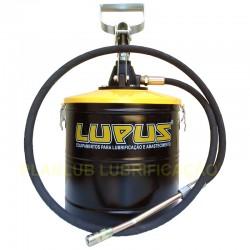 Engraxadeira de Balde 7 Kg Lupus Manual c/ Alavanca e Compactador