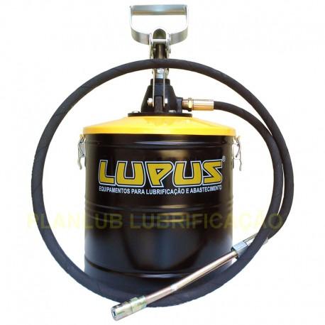 Engraxadeira Manual Lupus c/ Alavanca e Compactador - Capacidade 7 Kg