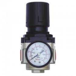 Regulador de Pressão de Ar Comprimido c/ Manômetro 1/2 Pol