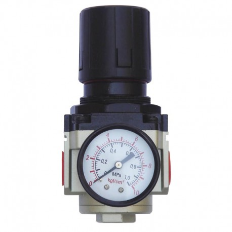Regulador de Pressão de Ar Comprimido c/ Manômetro 1/2 Pol - Média Pressão