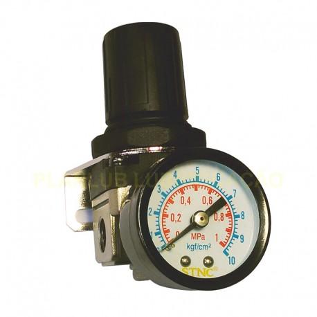 Regulador de Pressão de Ar Comprimido c/ Manômetro 1/4 Pol