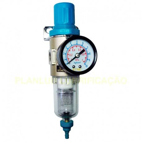 Filtro Regulador de Ar Comprimido 1/4 Pol - Baixa Pressão