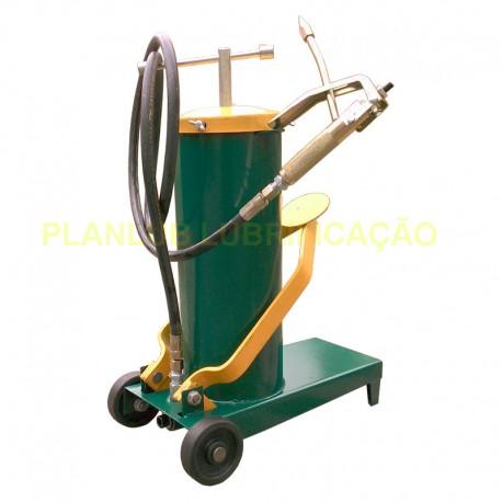 Engraxadeira a Pedal Lupus 8 Kg Com Carrinho c/ Alavanca e Compactador