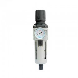 Filtro Regulador de Pressão C/ Manômetro 3/8 Pol - Protetor Metálico