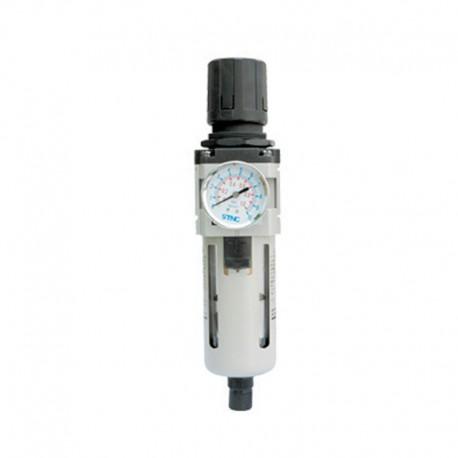 Filtro Regulador de Pressão C/ Manômetro 3/8 Pol - Média Pressão