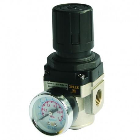 Regulador de Pressão de Ar Comprimido c/ Manômetro 3/4 Pol Média Pressão
