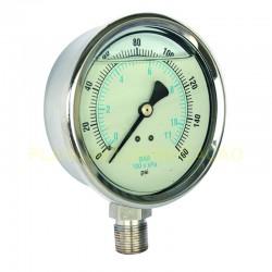 Manômetro Vertical c/ Glicerina - D 60mm / 1MPa