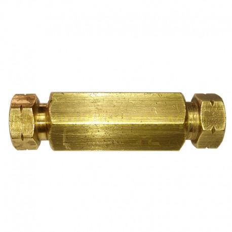 União Reta Tubo 8mm X 8mm em Latão