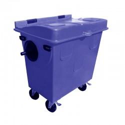 Contentor para Lixo 700 Litros em Polietileno Rotomoldado