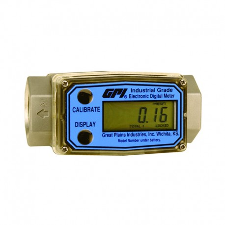 Medidor Digital GPI em Inox p/ Etanol e Diversos Fluídos - 7,6 a 75,7 L/min