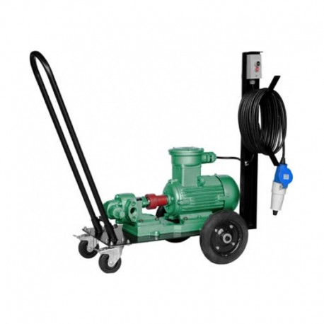 Carrinho com Bomba Elétrica Para Óleo Lubrificante e Diesel 30 L/min