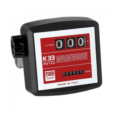 Medidor Mecânico Piusi K33 - 3 Dígitos Óleo Diesel 120 LPM