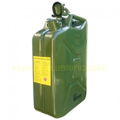 Galão Metálico para Transporte de Combustível - 20 Litros