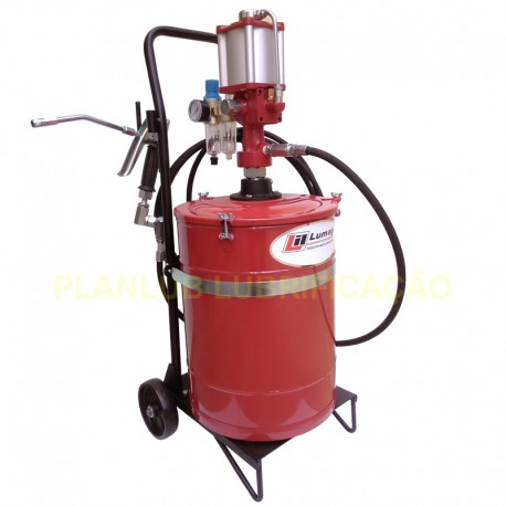 Propulsora Pneumática para Graxa 20 Kg e Acessórios Lumagi 0,5 kg / minuto