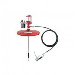 Propulsora pneumática p/ Graxa Lumagi 7000-C tambor de 200 kg  e Acessórios - 0,5 kg / minuto