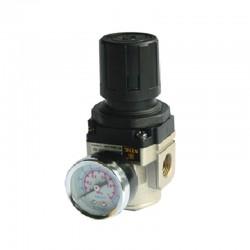 Regulador de Pressão de Ar Comprimido c/ Manômetro 3/8 Pol