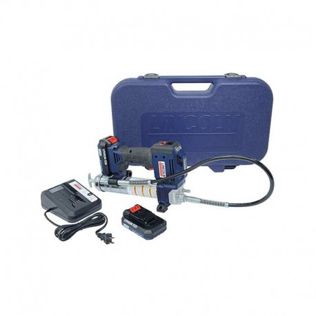 Engraxadeira à Bateria Lincoln Powerluber com 2 Baterias de 20V - 10000psi - LCD