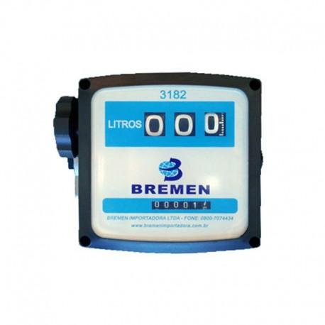 Medidor Mecânico Bremen 3182 de 3 Digitos p/ Combustível - 120 L/min