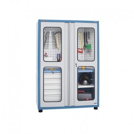 Armário Porta Acessórios c/ Vidro Temperado 3 Prat. Regulaveis Com 60 Kg Capacidade Cada