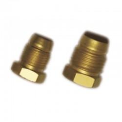 Flange e Anilha p/ Tubo 4mm X M8 X 1 em Latão