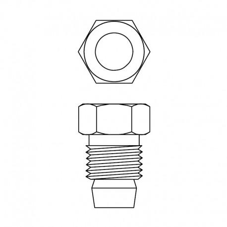 Flange Luva D4mm - 1 Peça