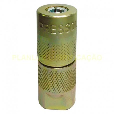 Acoplador Hidráulico Universal Pressol 1/8 Pol NPT 9000 psi 1 Peça