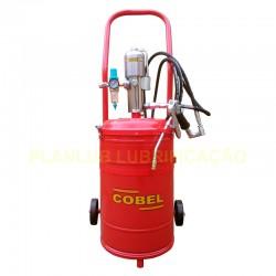 Propulsora Pneumática Para Graxa Cobel 431- Capacidade 35 Kg e Acessórios - 500 GPM