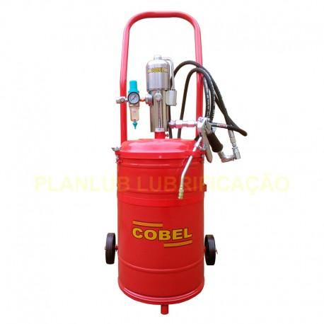 Propulsora Pneumática Cobel Para Graxa Recipiente Capacidade 35 Kg e Acessórios - 500 GPM